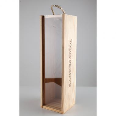 Caixa de madeira p/ 1 Garrafa